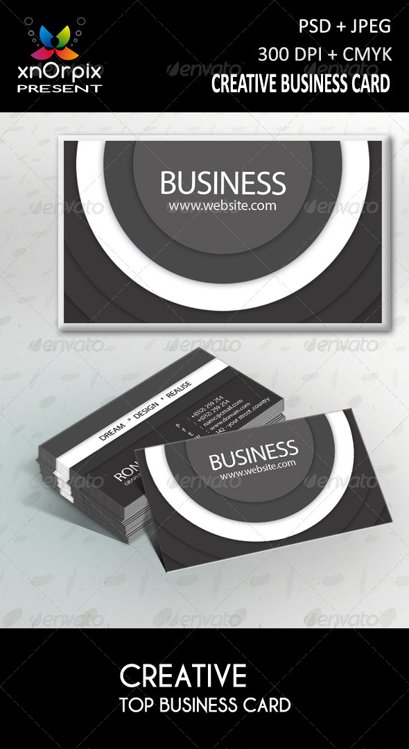 GraphicRiver Top Business Card 216343
