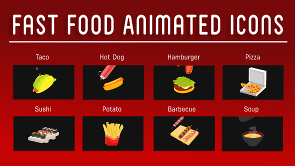 Download Fast Food Animated Icons nulled download