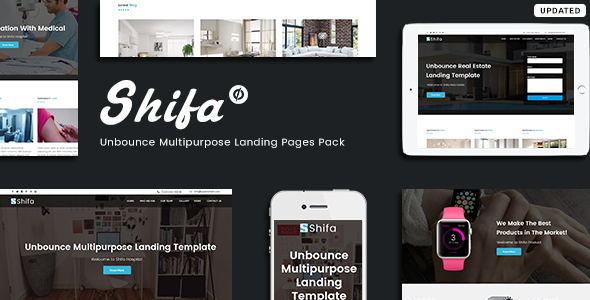 Unbounce Multipurpose Landing Pages Pack - Shifa