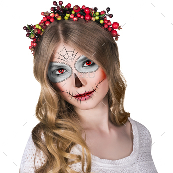 Photodune Woman in day of the dead mask 18632511