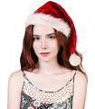 Young woman with christmas santa hat