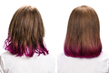 Hair before and after treatment.