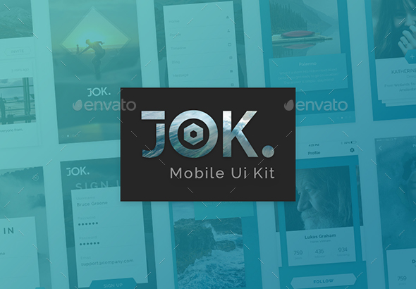 Jok Mobile UI Kit (User Interfaces)