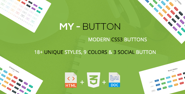 Download Mybutton - A Modern CSS3 Buttons Collection nulled download