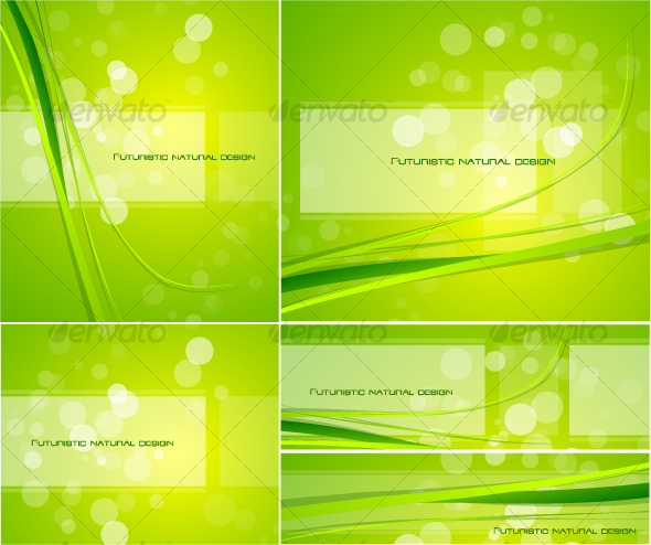 Pack of natural designs - Backgrounds Decorative