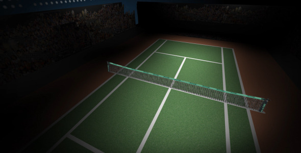 Animated Rotating Tennis Court VideoHive Motion Graphic  Backgrounds  Sports 1835148