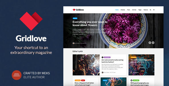 Gridlove – Creative Grid Style News & Magazine WordPress Theme (News / Editorial) images