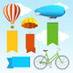 Airship Transport Banners. Vector