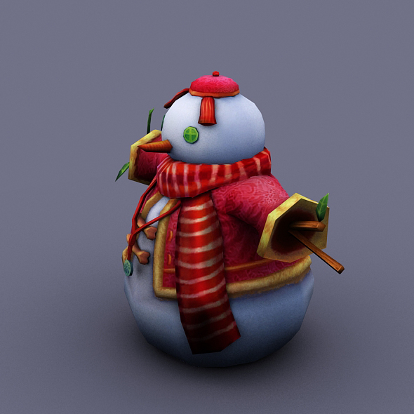 snowman red - 3DOcean Item for Sale
