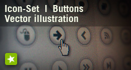 Flash vector illustration, icon set and buttons