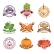 Download Vector Vegetables Colorful Labels Set