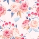 Download Vector Seamless Vintage Roses