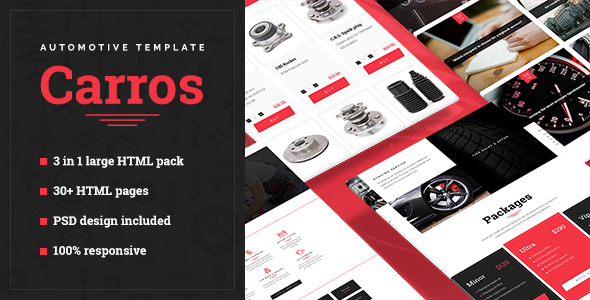 Carros — Automotive HTML5 Template