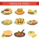 Download Vector Mexican Food Signature Dishes Illustration Set