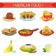 Download Vector Mexican Food Famous Dishes Illustration Set