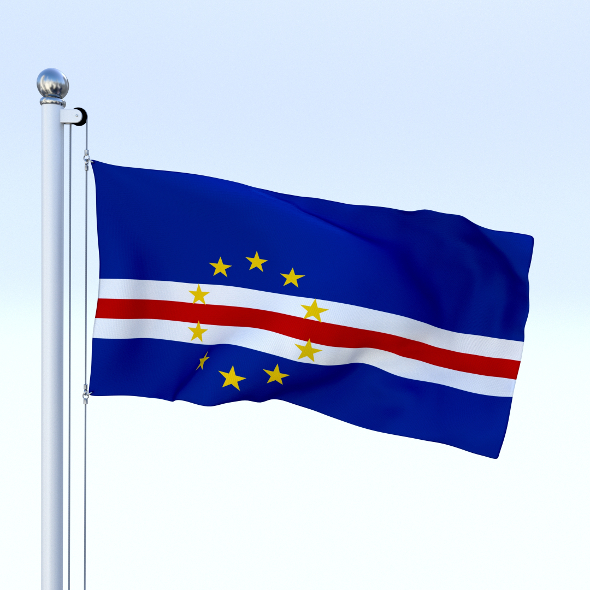 Animated Cape Verde Flag - 3DOcean Item for Sale