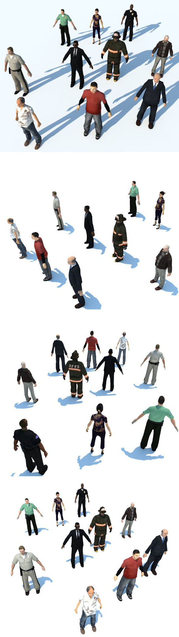10 LOW POLY PEOPLE part2 - 3DOcean Item for Sale