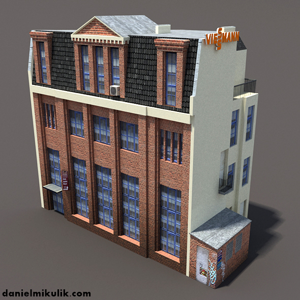 Apartment House Low Poly 3d Model #153 - 3DOcean Item for Sale