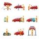 Car Repair Shop Services Set of Illustrations