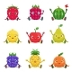 Download Vector Fruit and Berries Characters Sitting