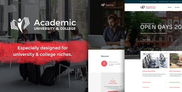 Academic | Responsive University Education Bootstrap Site Template