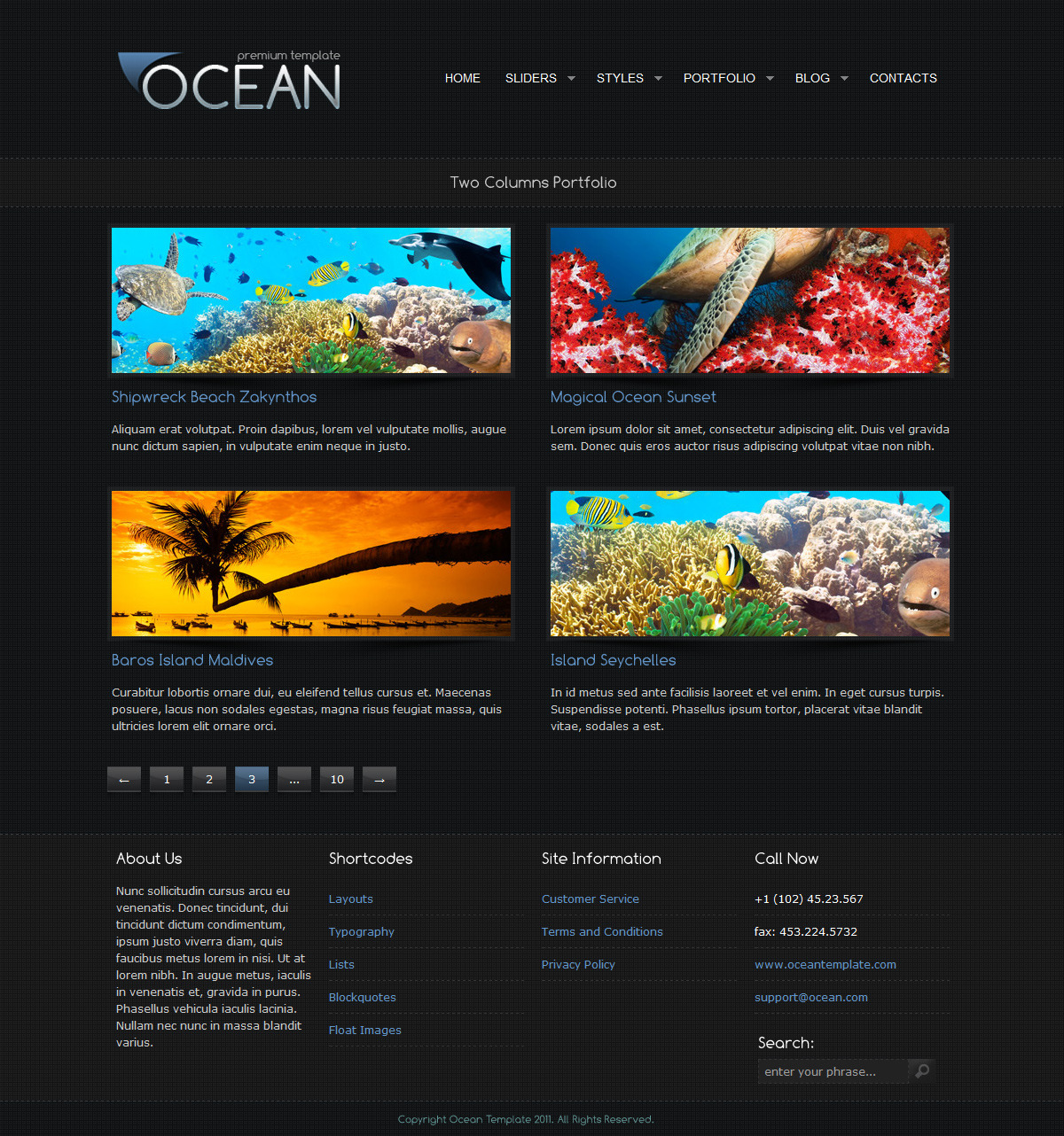 Ocean Premium Template