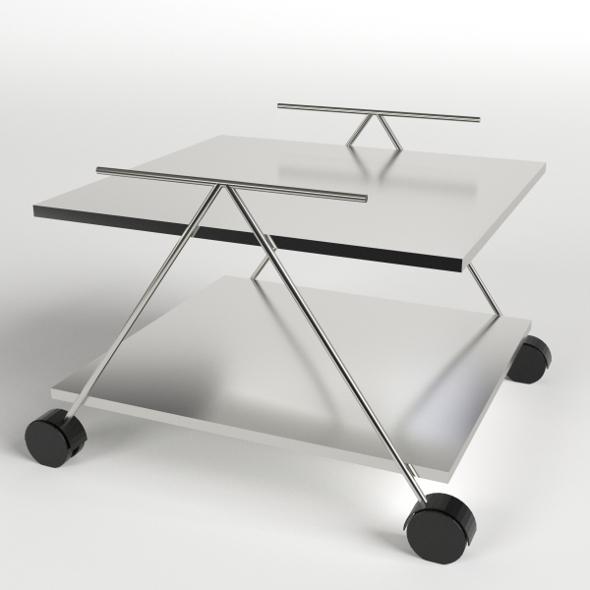 Food Trolley, Beverage Cart 2 - 3DOcean Item for Sale