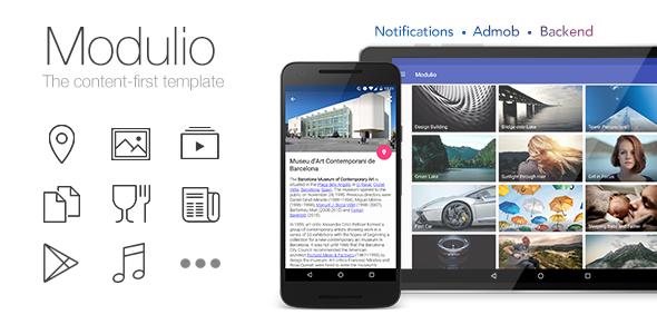 Modulio for Android - Content-First Template for Distributers