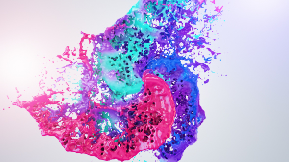 Colors Of Liquid Logo Reveal (Water) After Effects Templates