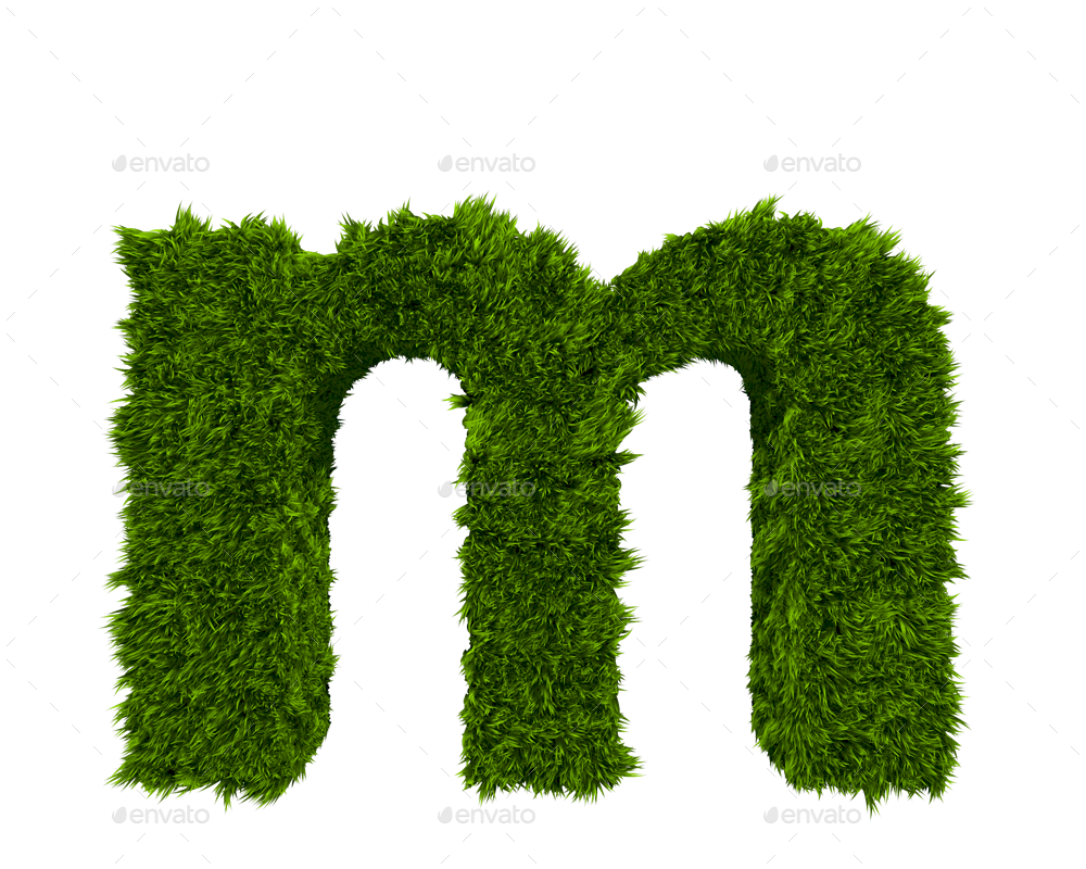 3d Grass Letters By Creativedurrani Graphicriver