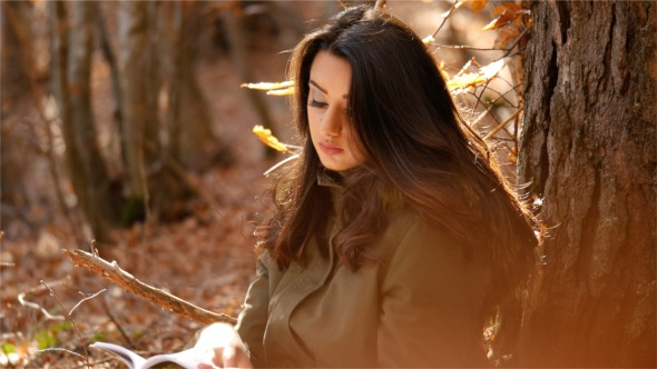 VideoHive Nice Reading in the Woods 18654240