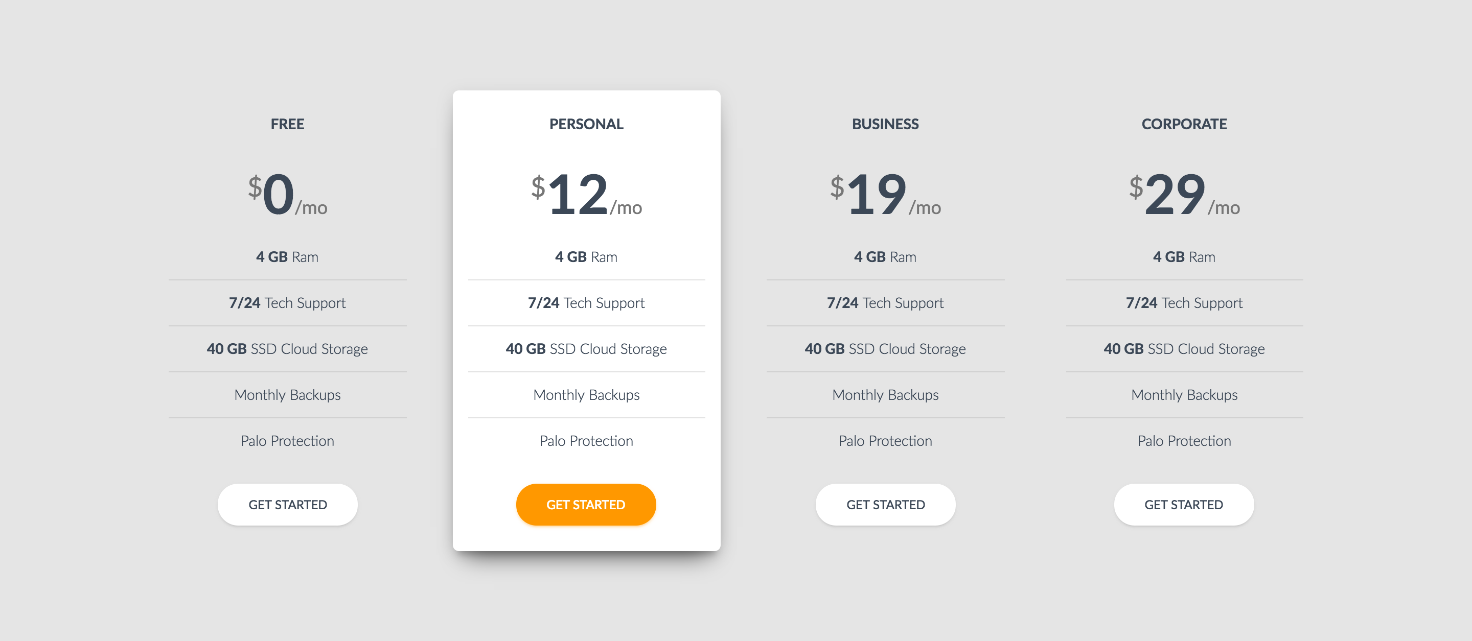 Modern Bootstrap Pricing Tables By Adamthemes Codecanyon