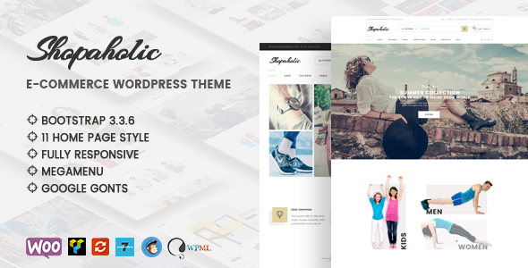 Download Shopaholic - Responsive Multipurpose eCommerce WordPress Theme nulled download