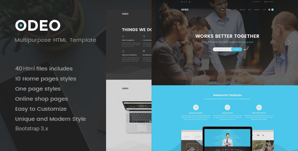 ODEO – Multipurpose & Business HTML Template (Business) images