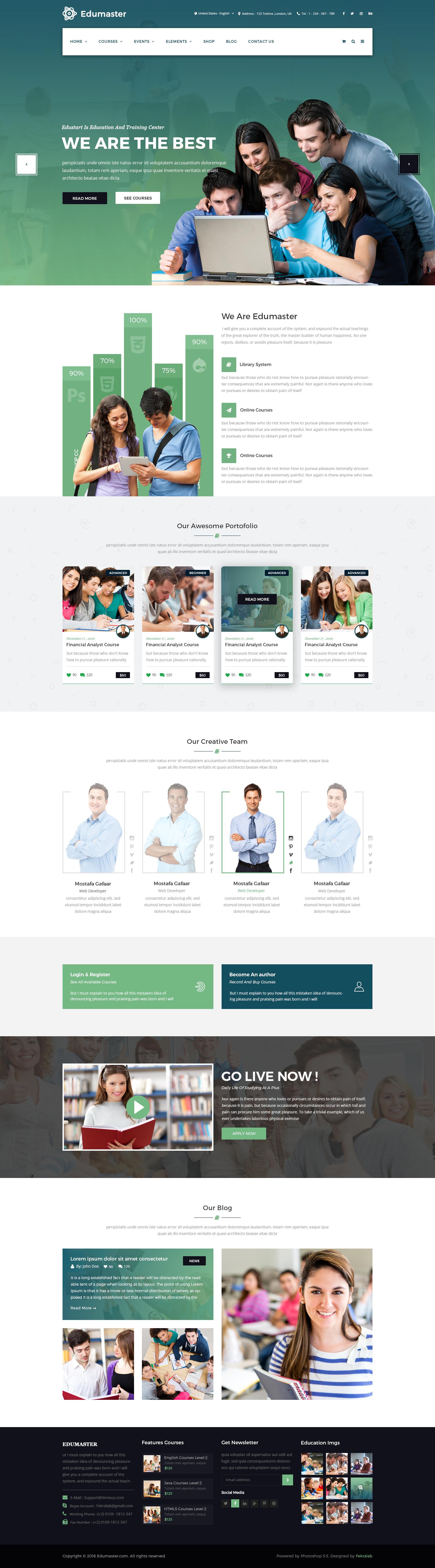 thiết kế website trường đại học
