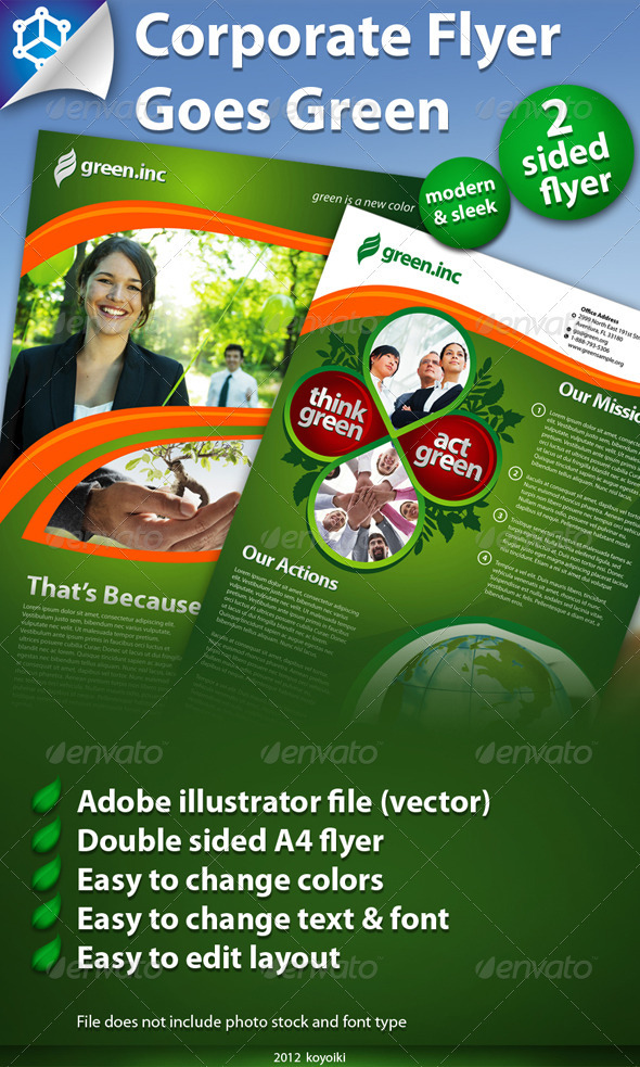 Corporate Flyer Green - Corporate Flyers