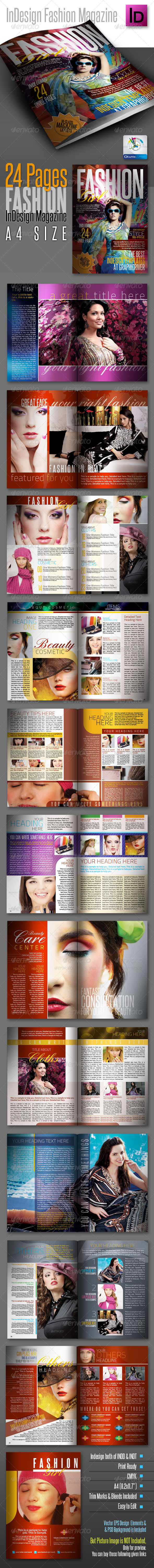 GraphicRiver FashionGirl InDesign Modern Magazine 24pages 1837309