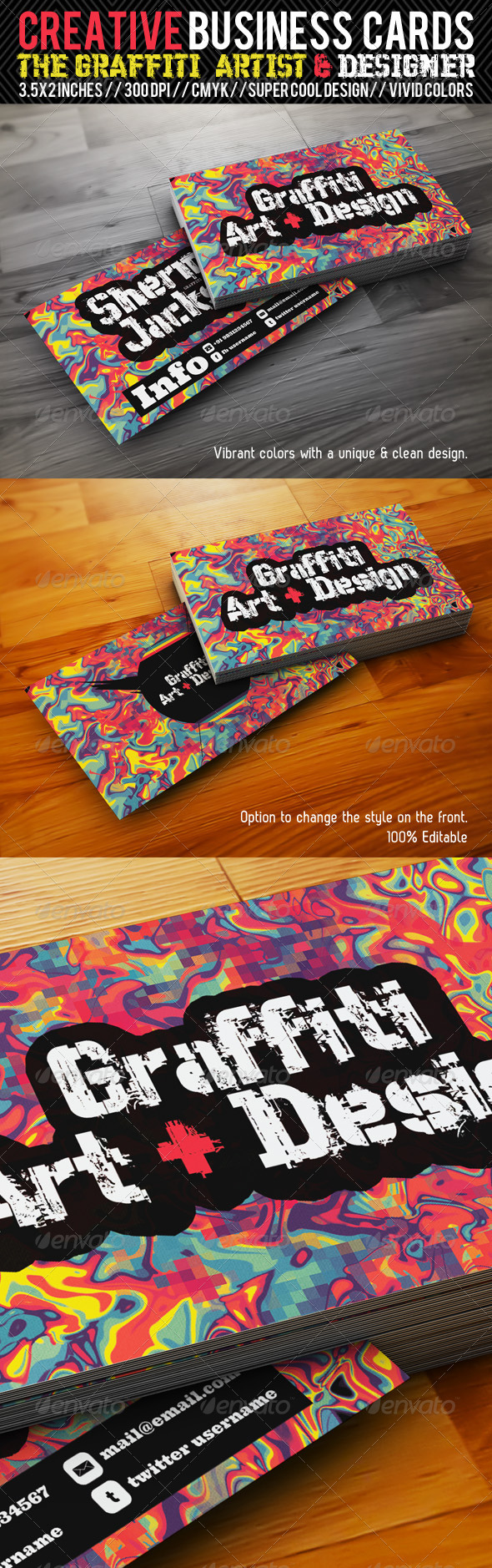Creative Business Card#3-Grafitti Art & Designer - Creative Business Cards