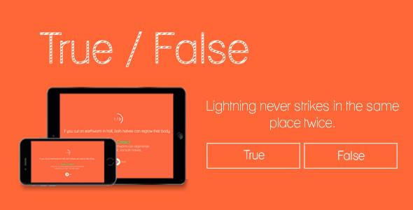 Download True or False HTML5 Game nulled download