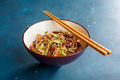 Stir fry noodles yakisoba with beef