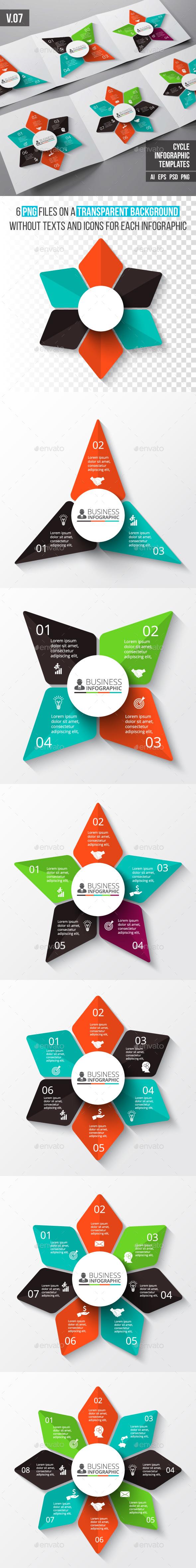 Infographics template set v.07