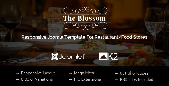 01 590x300.  large preview - Blossom - Responsive Joomla Template For Restaurant/Food stores