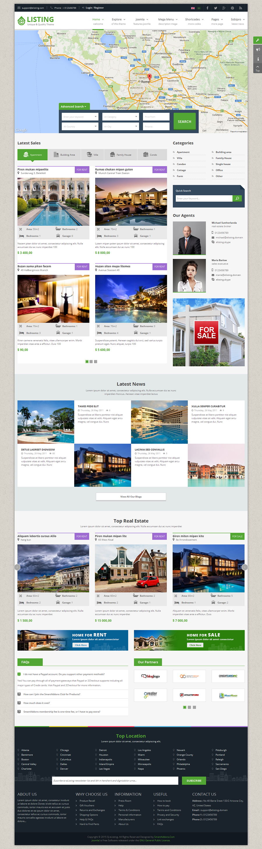 elisting responsive real estate joomla template by smartaddons elisting responsive real estate joomla template