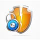 Hacker Attack Shield and Lock. Vector