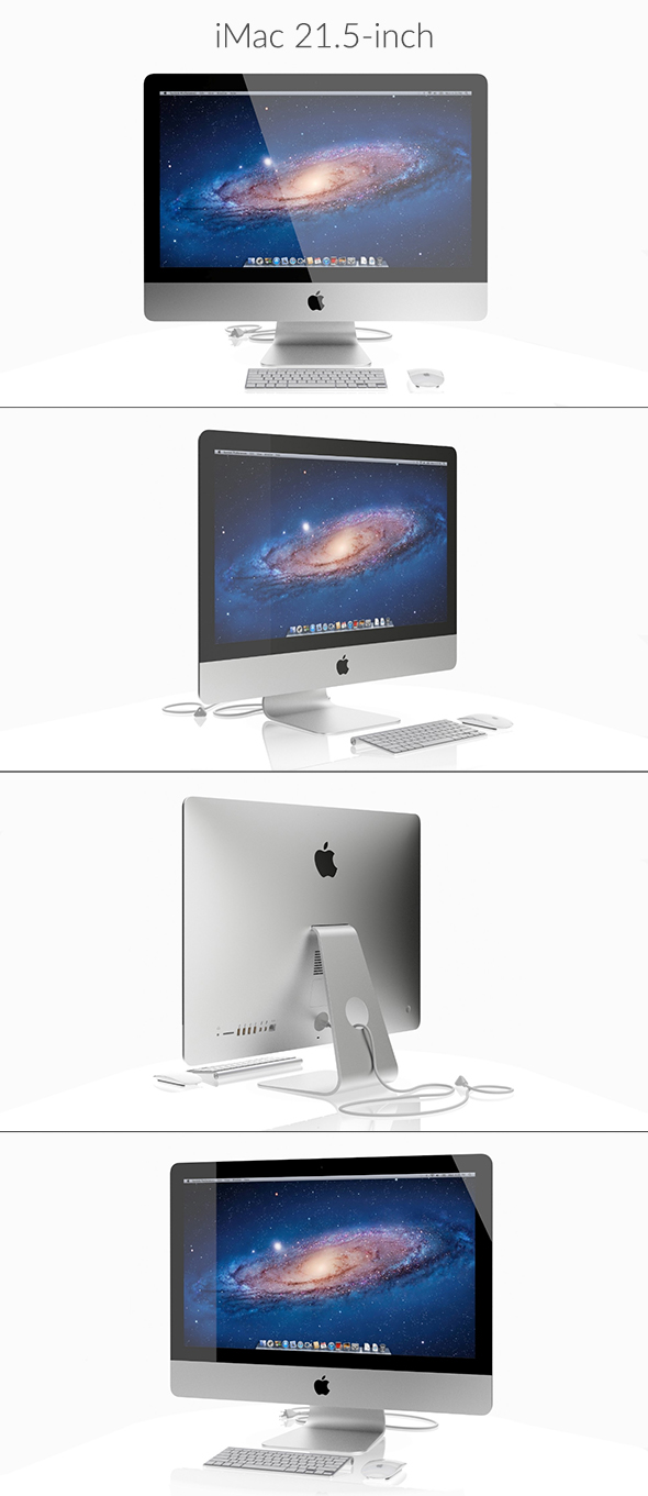 iMac 21.5-inch 2013 - 3DOcean Item for Sale