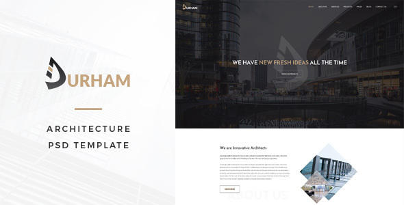 Durham : Architecture PSD Template