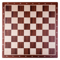 Old wooden chess board