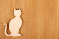 Cat wooden silhouette