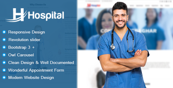Hospital - Hospital Appointment and Management HTML Template