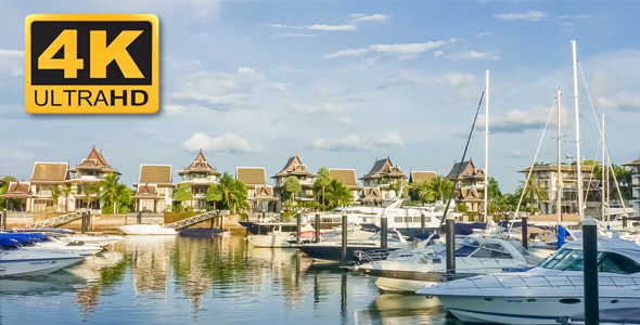 VideoHive View of Sea Bay with Yachts 18670257